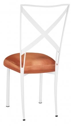 Simply X White with Orange Taffeta Boxed Cushion (1)