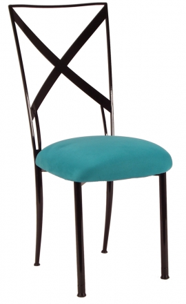 Blak. with Turquoise Suede Cushion (2)