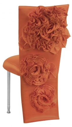 Orange Taffeta Jacket with Flowers and Boxed Cushion on Silver Legs (1)