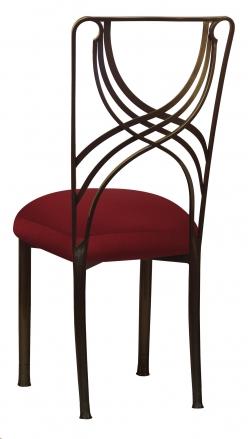Bronze La Corde with Burnt Red Dupioni Boxed Cushion (1)