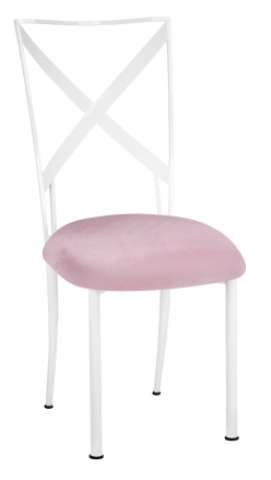 Simply X White with Soft Pink Velvet Cushion (2)