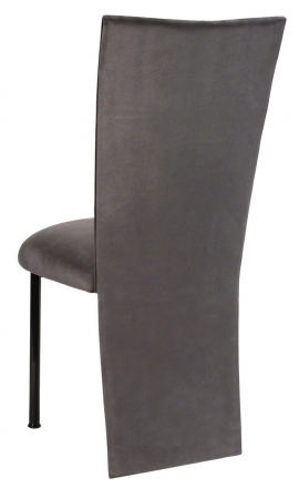 Charcoal Suede Jacket and Cushion on Black Legs (1)