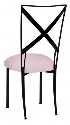 Blak. with Soft Pink Velvet Cushion (1)