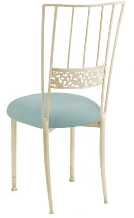 Ivory Bella Fleur with Ice Blue Suede Cushion (1)