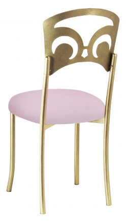 Gold Fleur de Lis with Soft Pink Velvet Cushion (1)