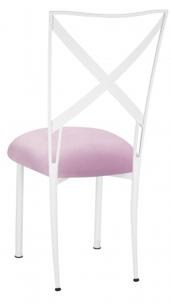 Simply X White with Soft Pink Velvet Cushion (1)