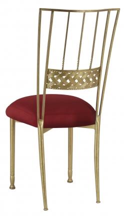 Gold Bella Braid with Burnt Red Dupioni Boxed Cushion (1)