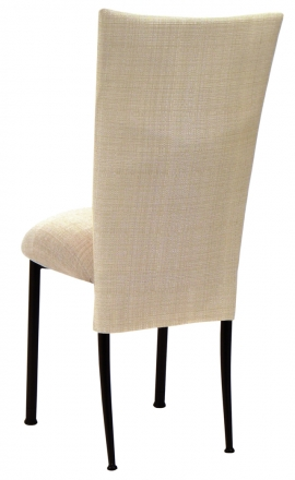 Parchment Linette Chair Cover and Cushion on Black Legs (1)