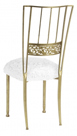 Gold Bella Fleur with White Wedding Lace over White Knit Cushion (1) ...  sc 1 st  Chairs By Collection - Chair Rentals Chairs for Sale Wedding ... & Chairs By Collection - Chair Rentals Chairs for Sale Wedding ...