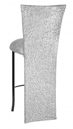 Atomic Silver Barstool Jacket and Cushion on Black Legs (1)