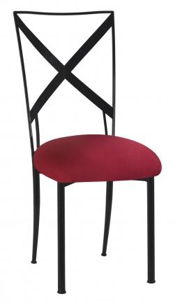 Blak. with Cranberry Stretch Knit Cushion (2)