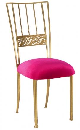 Gold Bella Fleur with Fuchsia Velvet Cushion (2)
