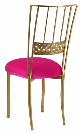 Gold Bella Braid with Fuchsia Velvet Cushion (1)