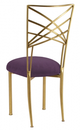 Gold Fanfare with Lilac Suede Cushion (1)