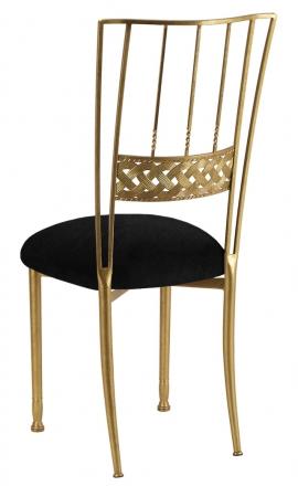 Gold Bella Braid with Black Suede Cushion (1)