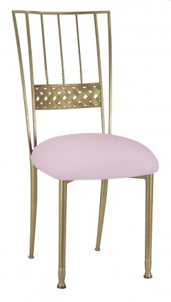 Gold Bella Braid with Soft Pink Velvet Cushion (2)
