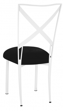 Simply X White with Black Suede Cushion (1)