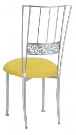 Silver Bella Fleur with Bright Yellow Velvet Cushion (1)