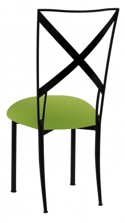 Blak. with Lime Green Stretch Knit Cushion (1)