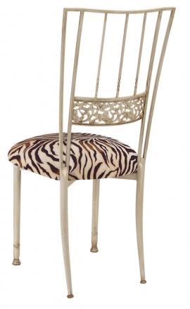 Ivory Bella Fleur with Zebra Stretch Knit Cushion (1)