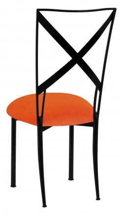 Blak. with Orange Velvet Cushion (1)