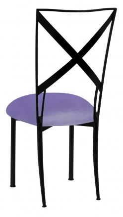 Blak. with Lavender Velvet Cushion (1)