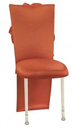 Orange Taffeta Jacket with Flowers and Boxed Cushion on Ivory Legs (2)