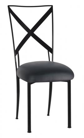 Blak. with Black Leatherette Cushion (2)