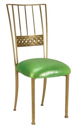 Gold Bella Braid with Metallic Lime Cushion (2)
