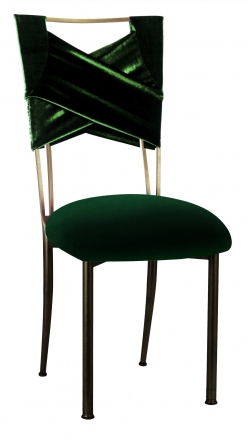 Green Velvet Sweetheart with Green Velvet Cushion on Brown Legs (2)