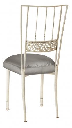 Ivory Bella Fleur with Charcoal Taffeta Boxed Cushion (1)