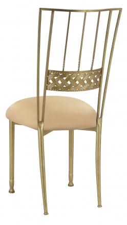 Gold Bella Braid with Toffee Knit Cushion (1)