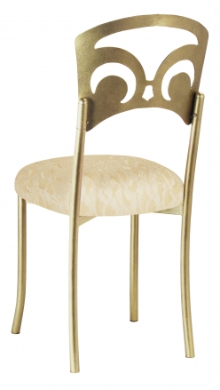 Gold Fleur de Lis with Ivory Lace and Ivory Knit Cushion (1)