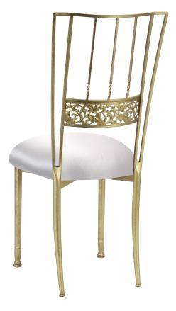 Gold Bella Fleur with Platinum Satin Cushion (1)