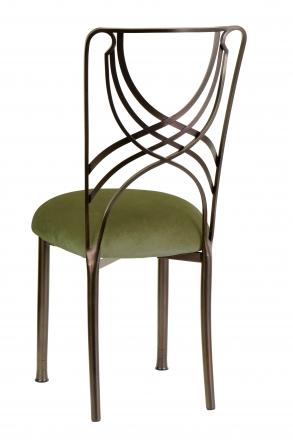 Solar Bronze La Corde with Olive Velvet Cushion (1)