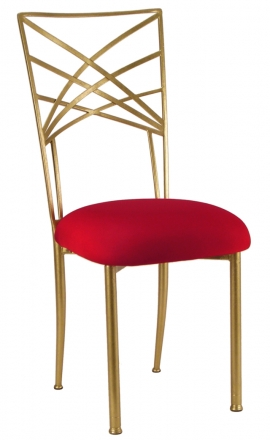 Gold Fanfare with Red Stretch Knit Cushion (2)