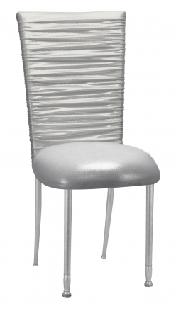 Chloe Metallic Silver on White Foil with Cushion on Silver Legs (2)