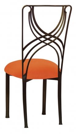 Bronze La Corde with Orange Velvet Cushion (1)