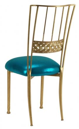 Gold Bella Braid with Metallic Teal Cushion (1)
