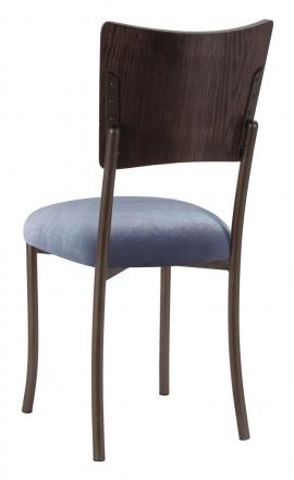 Wood Back Top with Steel Velvet Cushion on Brown Legs (1)