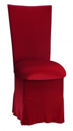 Red Velvet Chair Cover, Cushion and Skirt (2)