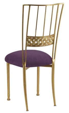 Gold Bella Braid with Lilac Suede Cushion (1)