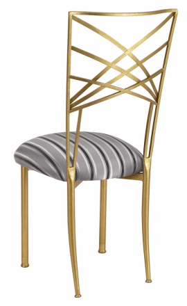 Gold Fanfare with Charcoal Stripe Cushion (1)