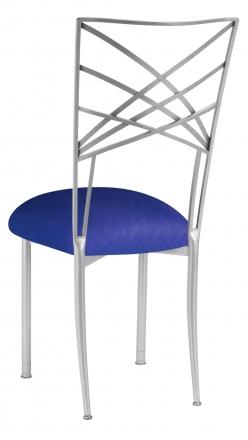Silver Fanfare with Royal Blue Stretch Knit Cushion (1)
