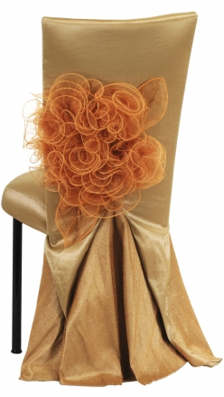 Gold Taffeta BET Dress with Boxed Cushion on Black Legs (1)