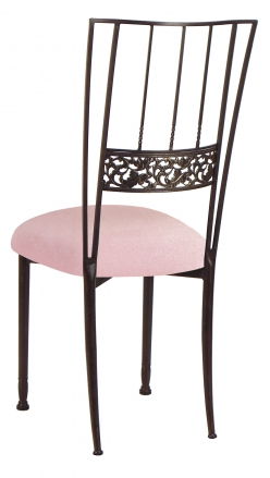 Mahogany Bella Fleur with Pink Sparkle Velvet Cushion (1)