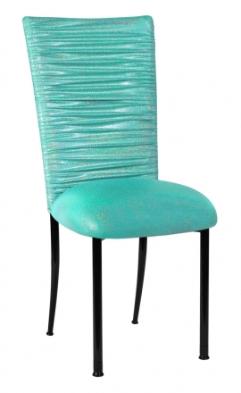 Chloe Mermaid Stretch Knit Chair Cover and Cushion on Black Legs (2)
