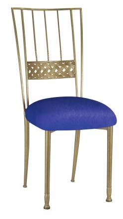 Gold Bella Braid with Royal Blue Stretch Knit Cushion (2)