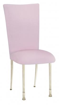 Soft Pink Velvet Chair Cover on Ivory Legs (2)