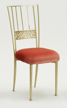 Gold Bella Fleur with Paprika Velvet Cushion (2)